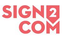 Sign2com-beurs in Kortrijk, België